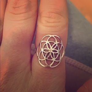 Jewelry - Sterling Silver Flower of Life Ring